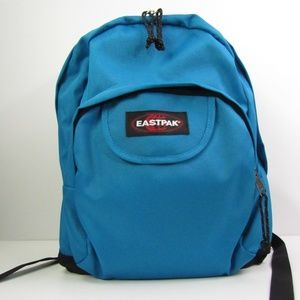 Eastpak Canvas/Nylon Blue/Black Backpack